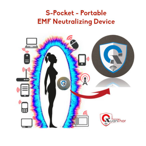 QUANTHOR Personal Device S-Pocket Portable EMF Radiation Shield