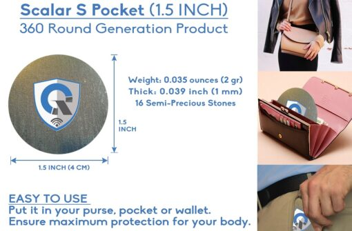 quanthor_SPocket_emf_protection_pendant_scalar_energy_shield_round_how