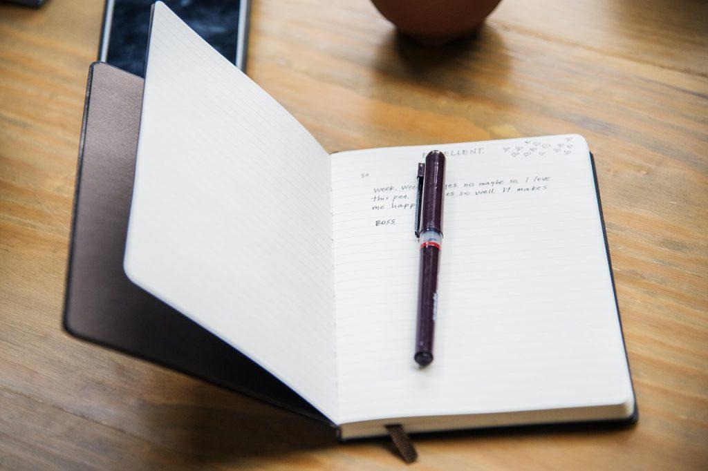 Business success journaling